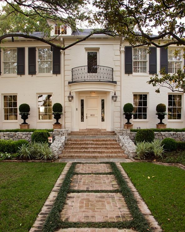 Beautiful Exterior Home Design Trends: Painted Brick / White Houses
